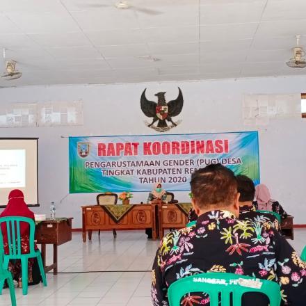 18 Sekdes dikecamatan Sumber Ikuti Koordinasi  PUG di Sanggar Budaya Kabupaten Rembang